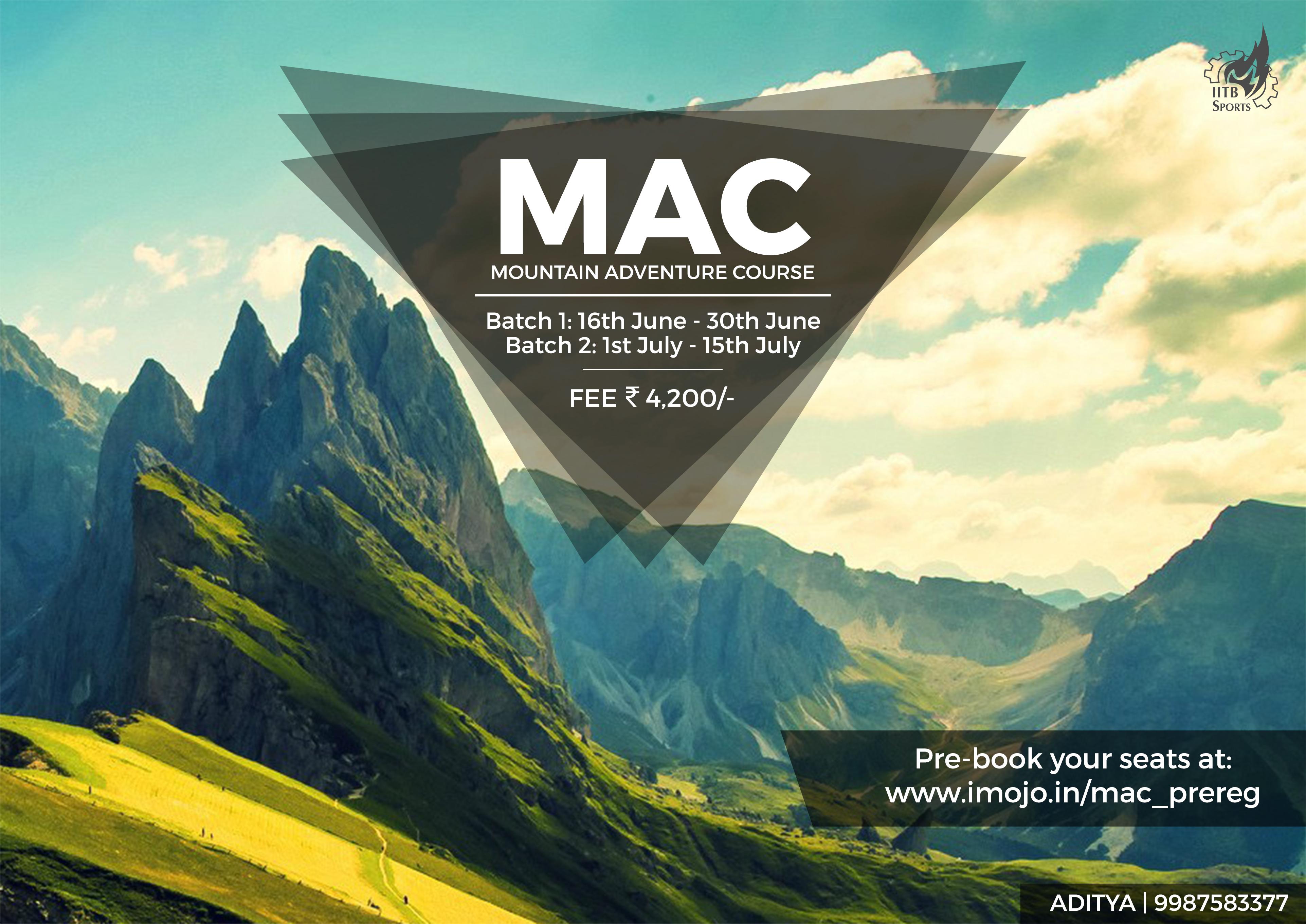mountain adventure course mac iit bombay sports